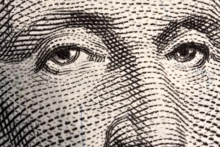 george washington: Ojos de Estados Unidos en dólares