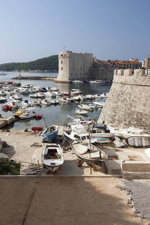 middle ages boat: Dubrovnik Croatia