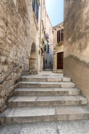 An alleyway in the historic city of Dubrovnik in Croatia