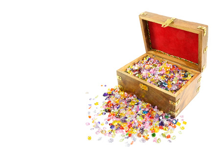 Treasure chest overflowing with precious gems
