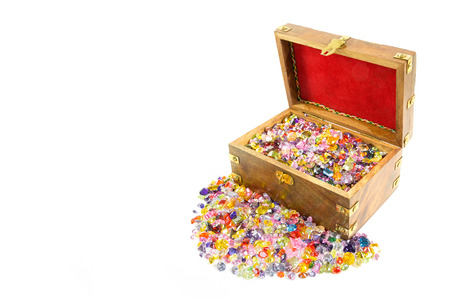 lapidary: Treasure chest overflowing with precious gems