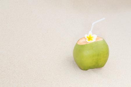 Refreshing tropical drink on a tropical island beach Stok Fotoğraf