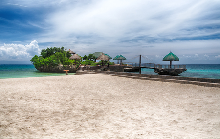 Beach landscape on a tropical island in the Philippines