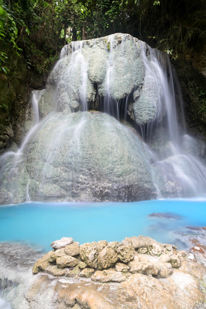 Magnificent tumalog Waterfall on the island of Cebu in the Philippines Stok Fotoğraf