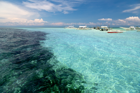 Tropical reef landscape in the Philippines Stok Fotoğraf