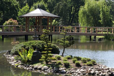 designed landscape hermoso pequeo jardn japons polonia breslau