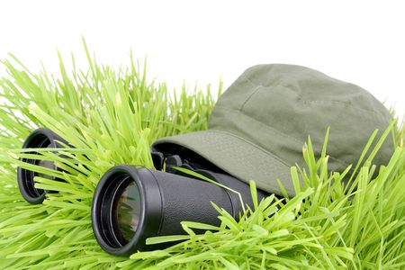 foe: Scout, soldier with field-glasses hidden in the grass