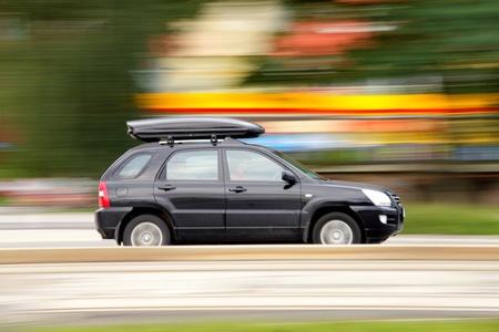 Reizen per auto en in de zomer vakantie, familie reizen begrip