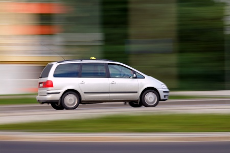 Blur speedy phone taxi  will be on time, travel and transportation Stock Photo - 10327638
