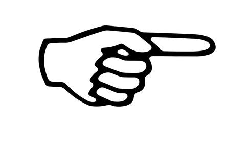 dedo se�alando: Concepto de pulgar