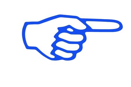 left hand: Forefinger concept