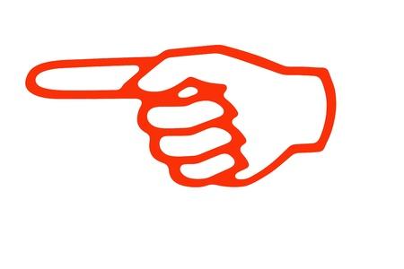 finger pointing up: Forefinger concept