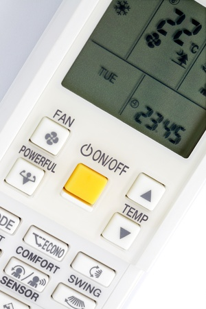 heatwave: Remote control for air conditioner Stock Photo