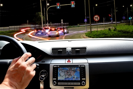 GPS navigation system, transport, travel and technology