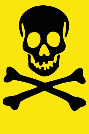 Skull with crossed bones, Black Rogger Stock Photo - 10417476