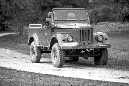 world war two: Old allies  military vehicle of world war two Stock Photo