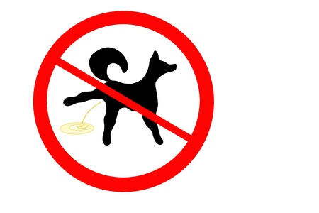 prohibition: Prohibition sign for dog piss
