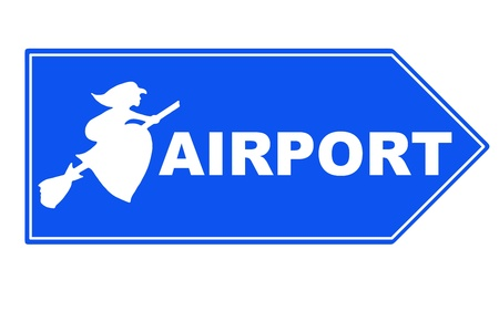 awfully: Signpost halloween airport