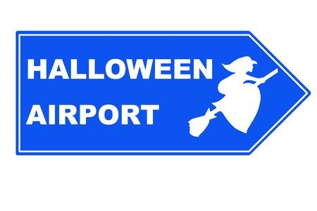 Signpost halloween airport Stock Photo - 10921931