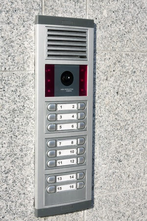 intercom: Video intercom in the entry of a house