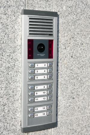 Video intercom op de binnenkomst van een huis