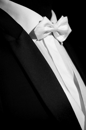 Elegant  suit and tie for businessman photo