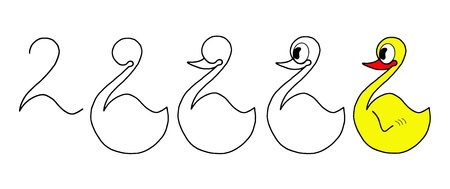 Short course in drawing ducks, school and education photo