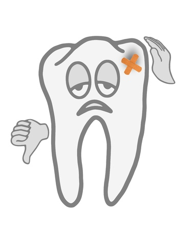 tooth pain: Very sick tooth before  visit to the dentist