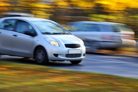 hatchback: Blur small economical family compact city car Editorial