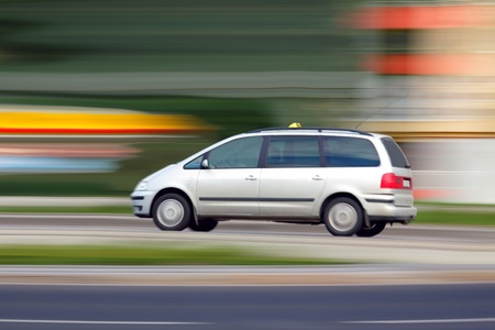 Blur speedy phone taxi  will be on time, travel and transportation Stock Photo - 11185872