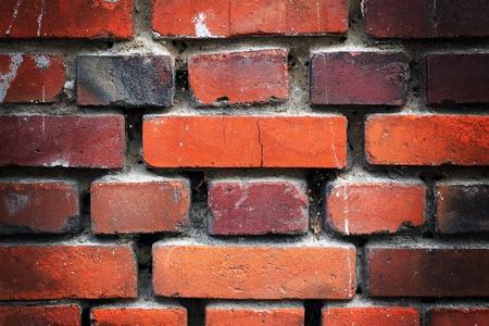 paredes de ladrillos: Ladrillo viejo destruida Foto de archivo