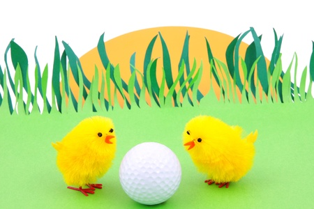Easter and association  egg - golf ball photo
