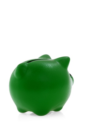 Green piggy bank  photo