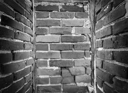 Great background in old brick empty small room photo