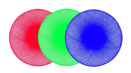 Image of hand drawing circle on white, RGB and pixels concept  photo