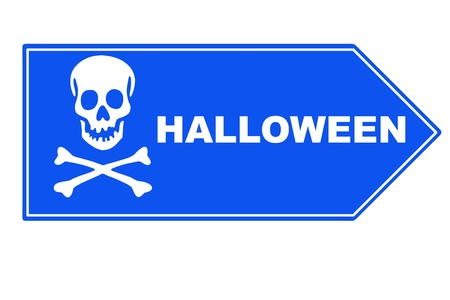 mandible: Signpost  halloween Stock Photo