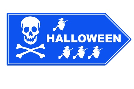 peril: Signpost  halloween Stock Photo