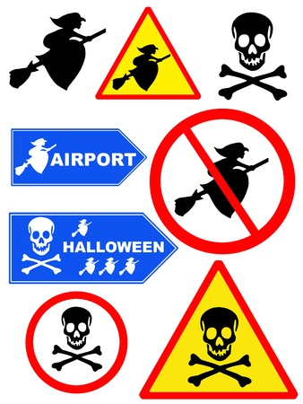 awfully: Signpost  halloween collection