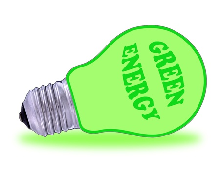 Green  electric energy from renewable sources photo