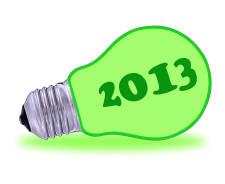 Happy new year, 2013 and a lot of green energy photo