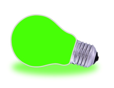 conventional: Traditional  light bulb and renewable energy Stock Photo