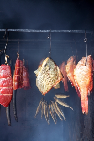 Marine fish from smokehouse is a great source of omega 3 and healthy life Stock Photo - 21769859