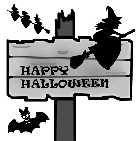 Halloween signpost photo
