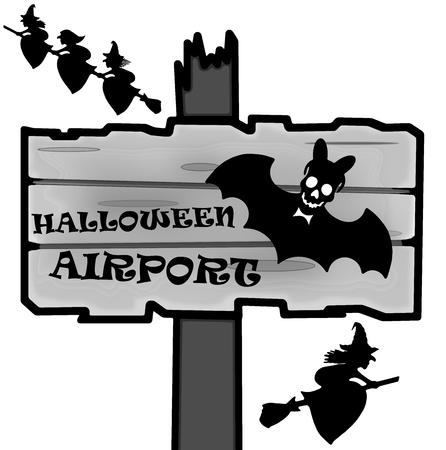Halloween signpost Stock Photo - 22612214