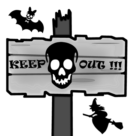 timbered: Halloween signpost