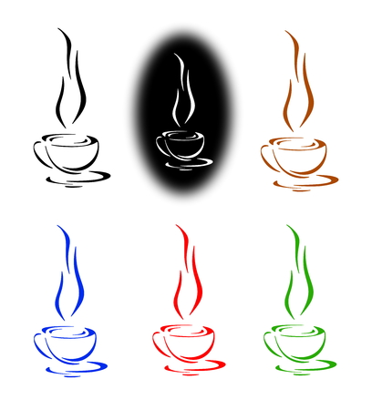 infusion: Coffee, tea or hot infusion of herbs, symbol and icon
