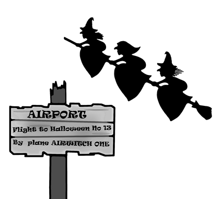 Halloween signpost Stock Photo - 22612229