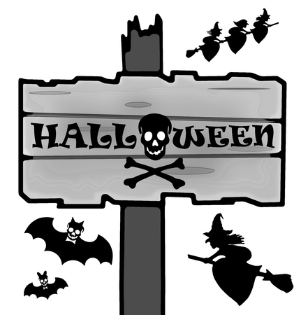 awfully: Halloween signpost