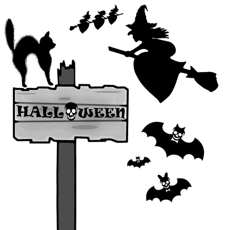 harridan: Halloween sign and icon Stock Photo