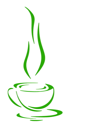 vapour: Coffee, tea or hot infusion of herbs, symbol and icon